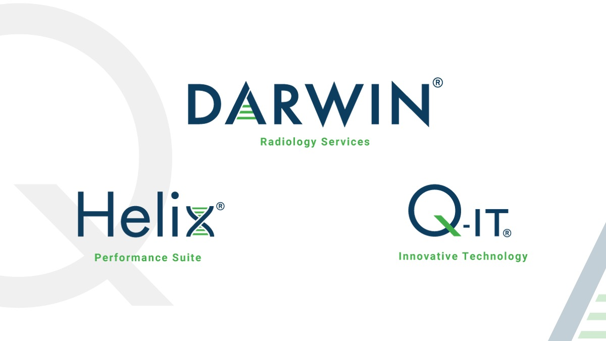 Quantum Services Logos Darwin Radiology Services, Helix Performance Suite, and Q-IT Innovative Technology